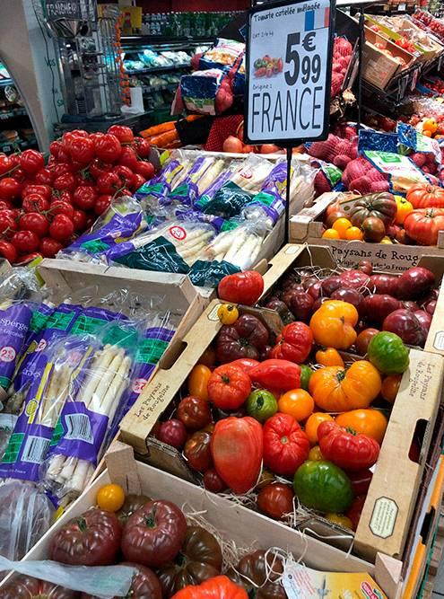 Я считаю, что он слишком дорогой, а овощи и фрукты там выглядят очень ненатурально