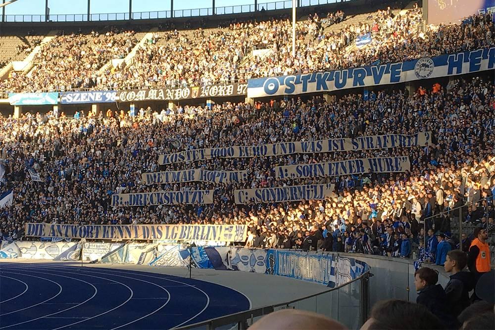 Фанаты футбольного клуба «Герта»