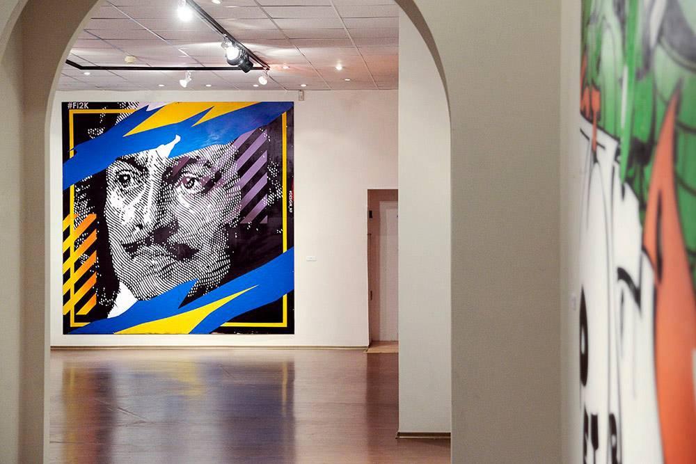 Готовая картина в Центре современного искусства им. Сергея Курёхина в Санкт-Петербурге