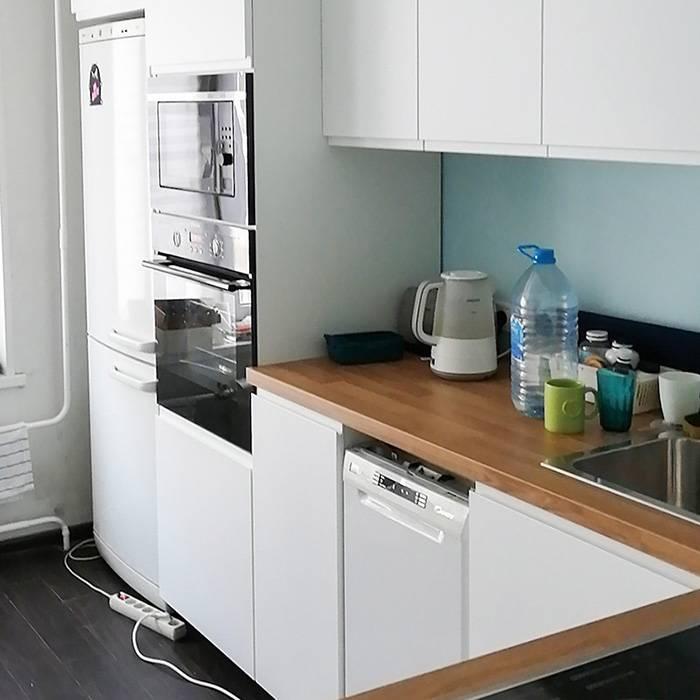 Наша новая кухня из «Икеи». Вся техника, кроме микроволновки, старая. Еще осталось установить стеклянный фартук на стену и подсветку