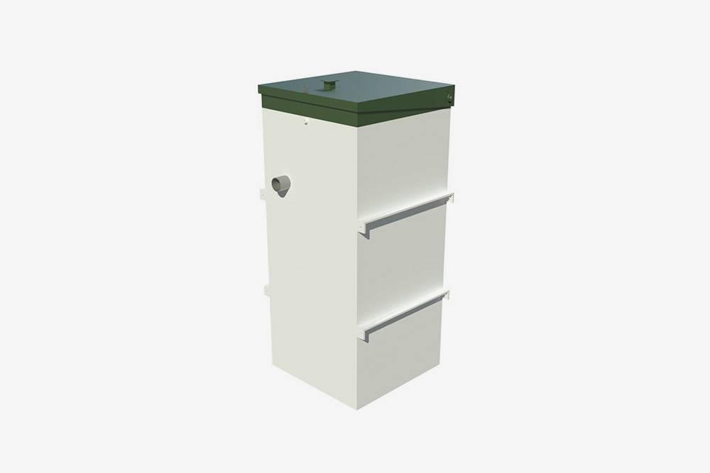Системы глубокой биоочистки снаружи выглядят примерно также: герметичный пластиковый контейнер с трубами длясброса стоков ивывода очищенной жидкости. Источник: Топол-Эко