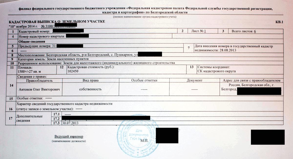 Кадастровая выписка похожа на выписку из ЕГРН, но это разные документы. Не перепутайте