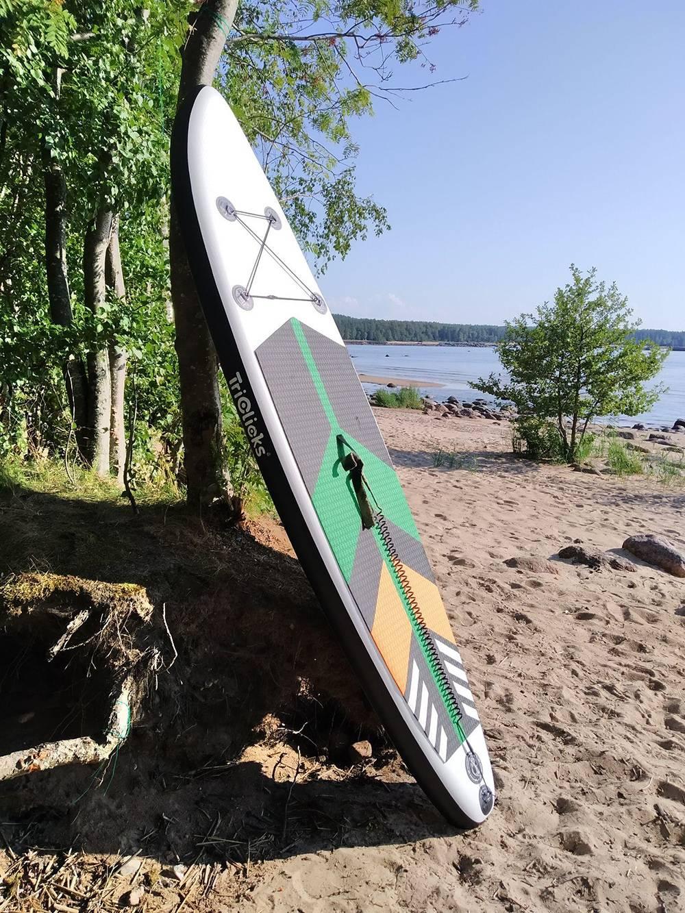 Наша доска Triclicks на побережье Финского залива