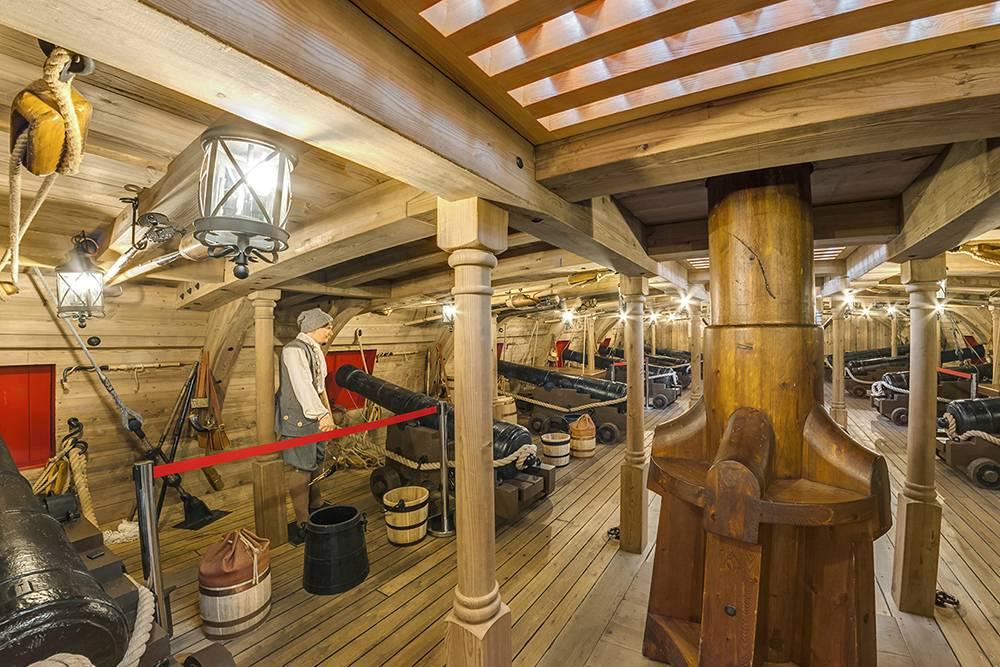 Примерно так раньше выглядела орудийная палуба. Источник: firstship.ru