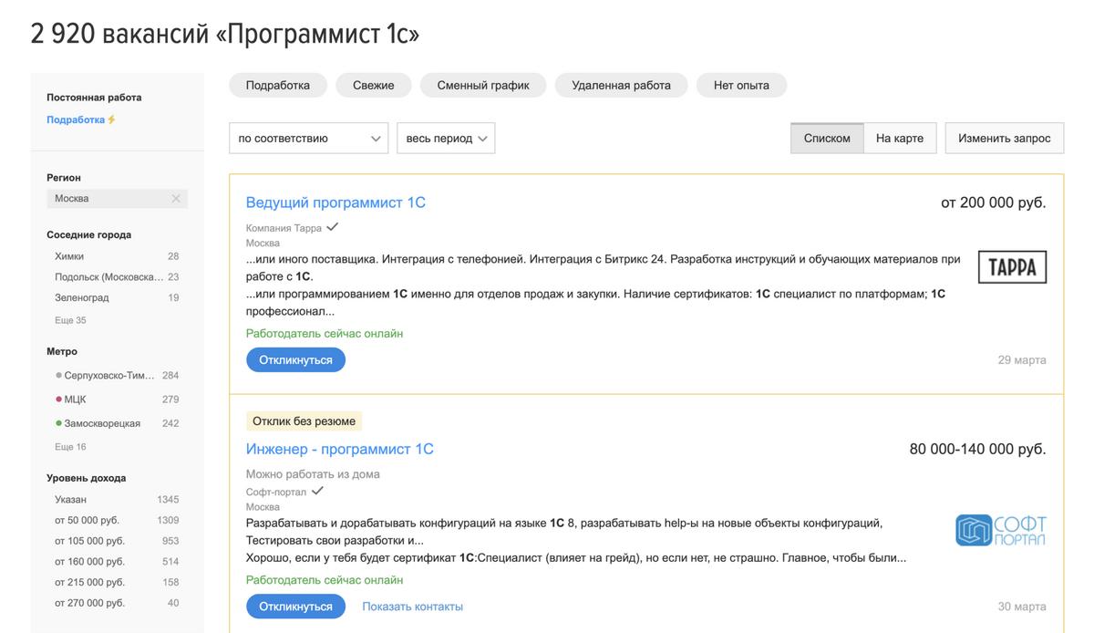 Зато рынок труда в Москве пока еще есть