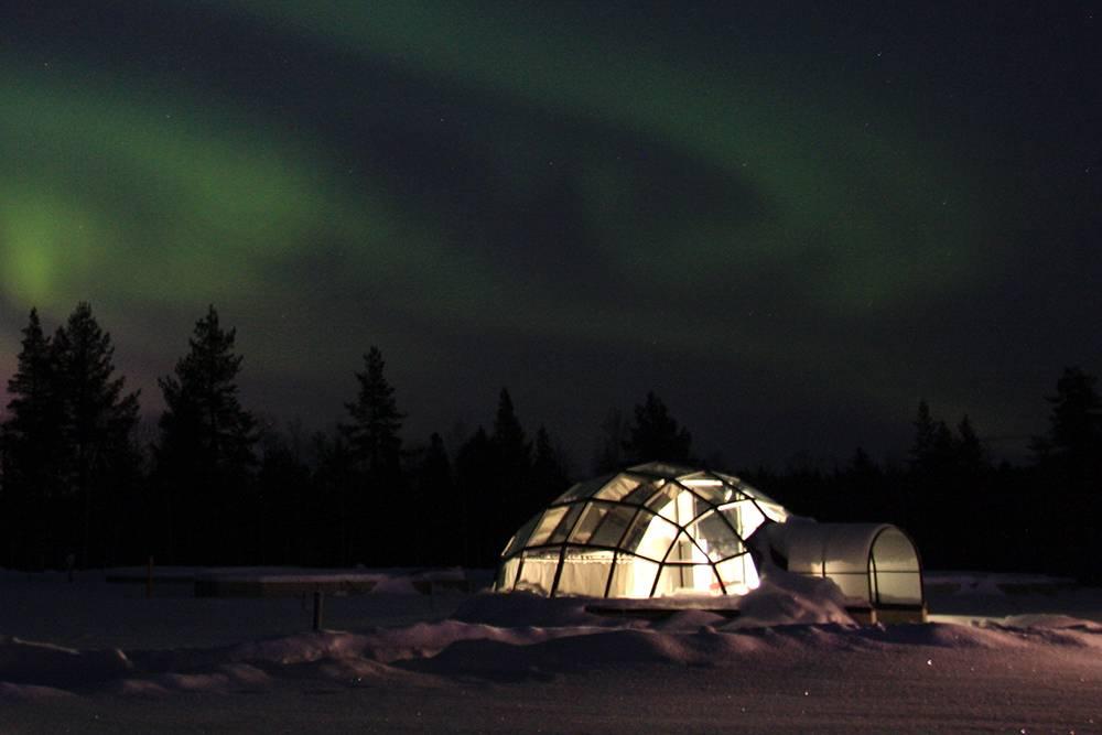 Купольные отели-иглу в Лапландии похожи на жилье инопланетян. Источник: kelvinlls / Flickr