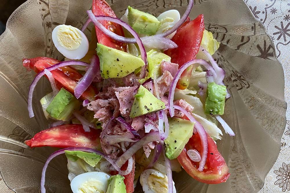 Вот такой получился салат