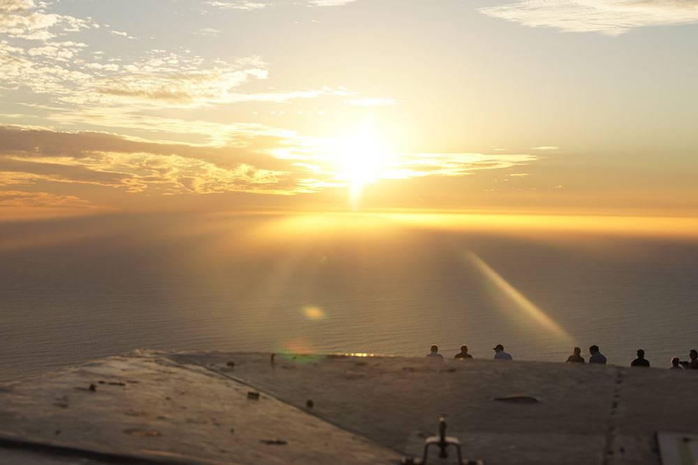 Закат со Столовой горы — одно из самых впечатляющих зрелищ, что я видела в жизни