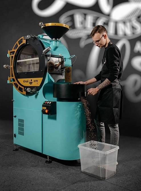 А это конвекционный ростер — зерна помещаются в прозрачный бокс и за 7—8 минут обжариваются там потоками воздуха. Источник: typhoon.coffee