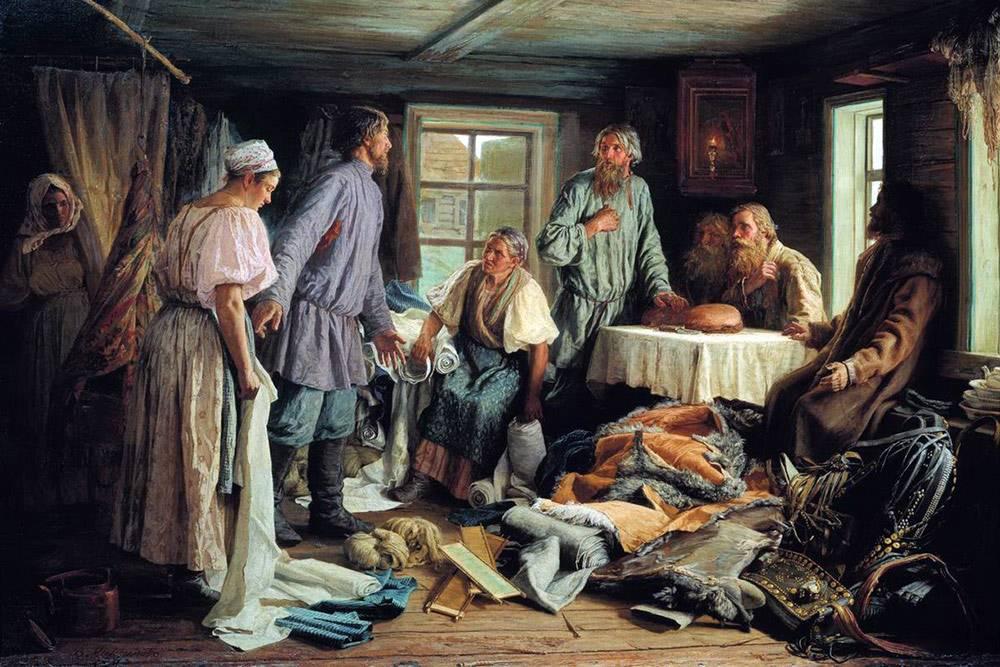 Картина В. Максимова «Семейный раздел» (1876). Тут всё: эмоции, обиды и недомолвки