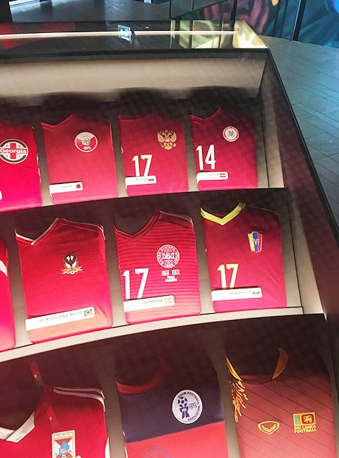 Вторая футболка вверху справа — национальной сборной России