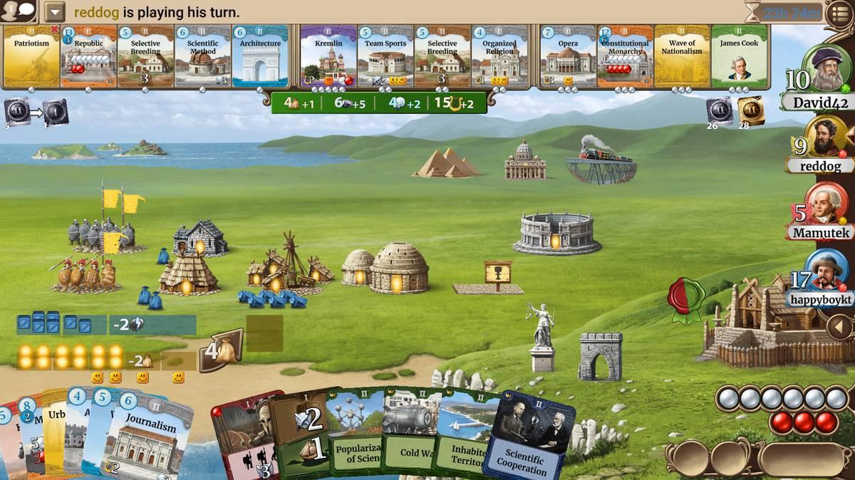 Through theAges — компьютерная версия игры «Сквозь века». К игровой партии могут присоединиться игроки и с мобильных платформ