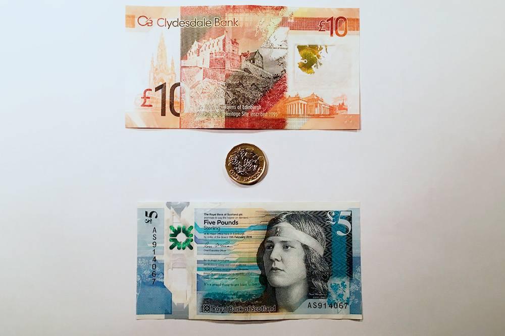Британские фунты, выпущенные шотландскими банками