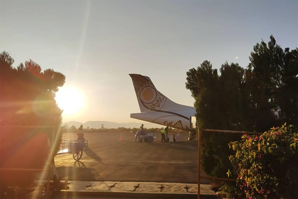 В аэропорту Хехо