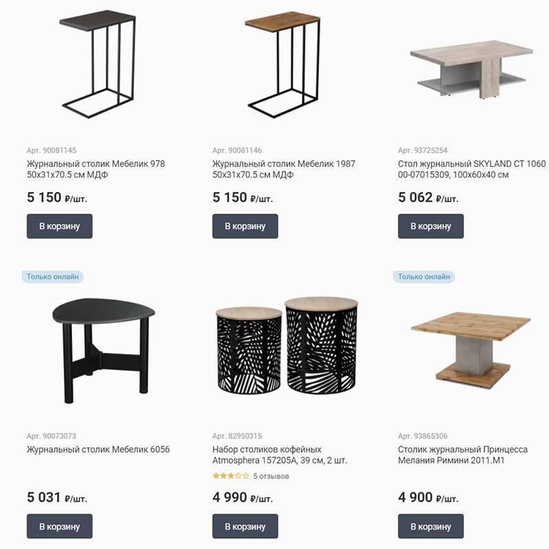 На 5000<span class=ruble>Р</span> можно купить радиатор, большое декоративное зеркало или, к примеру, журнальный столик