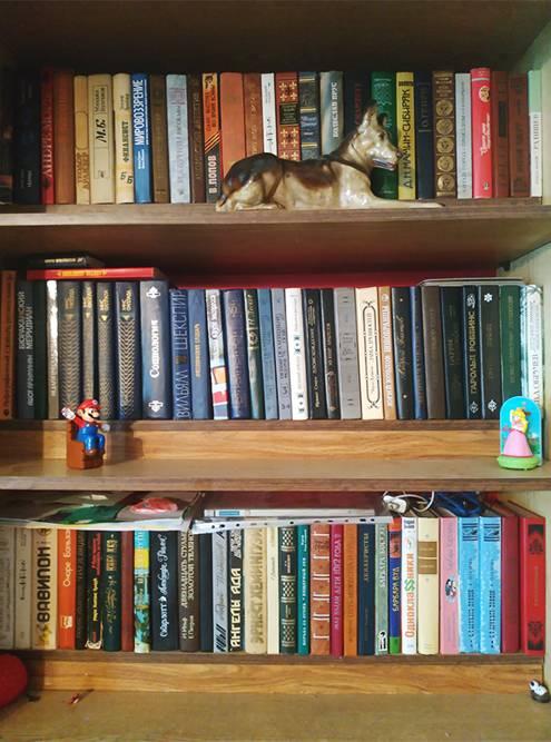 Еслибы книг было столько, мыбы перевезли их в коробках, Но на снимке лишь малая часть