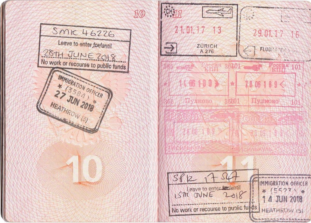 Сотрудник иммиграционной службы поставил печать в паспорт с указанием даты въезда и дня, когда я должна покинуть Великобританию