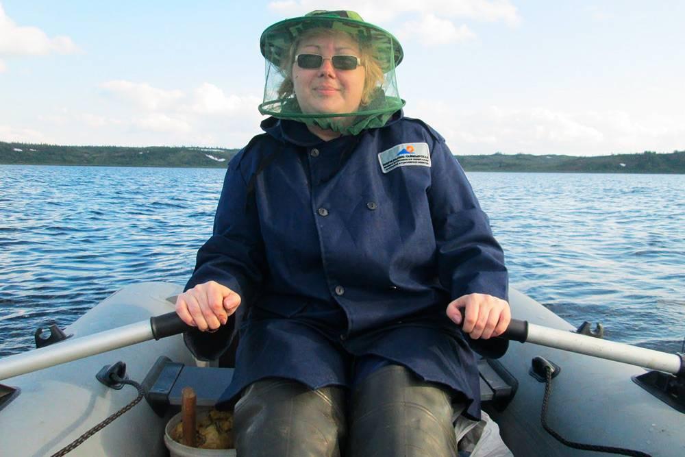 Моя мама рыбачит наБолгохтохе