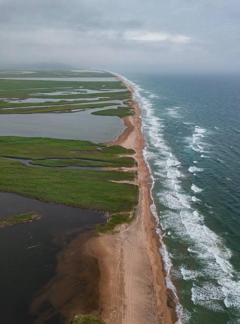 Пляж на границе с КНДР