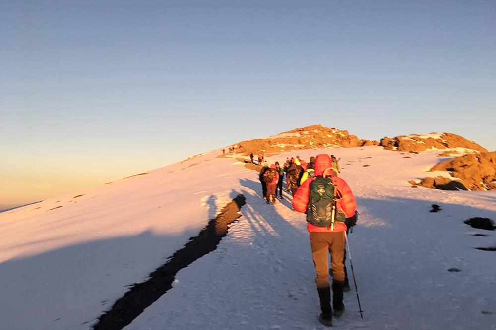 Ясный день на вершине Килиманджаро