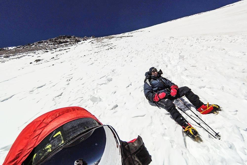 Те самые 6650метров на Охос-дель-Саладо. Мы не дошли до вершины 243метра