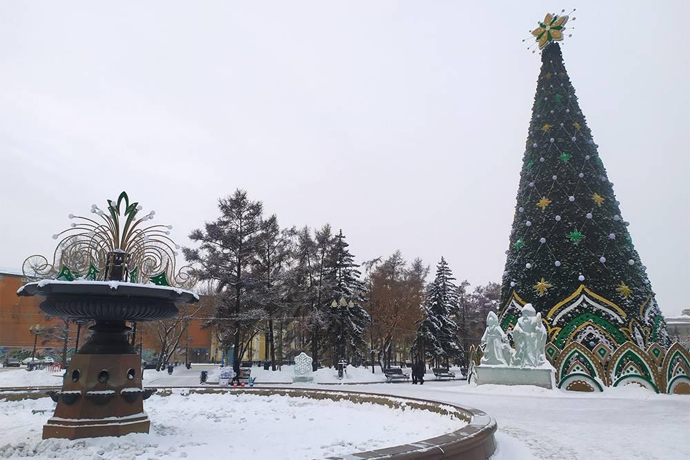 Так выглядит главная елка Иркутска в 2021году