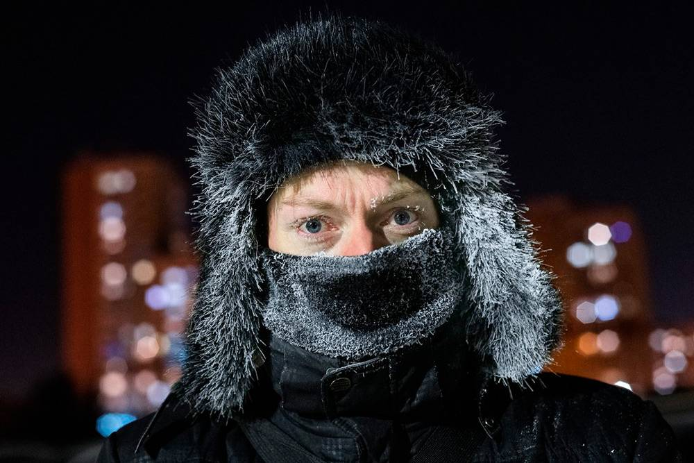 Типичный кемеровчанин в −40 °C. Фото: Анна Иванова