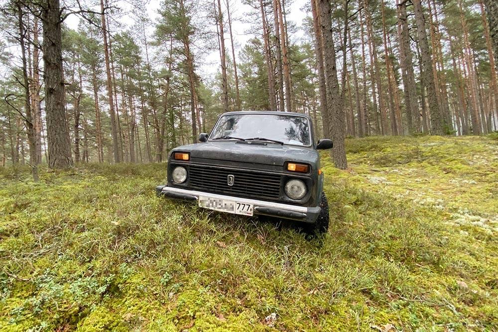 В лесах возле Риги. Впервые пробую машину на бездорожье