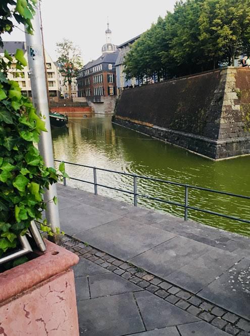 Вода в Рейне красивого зеленого цвета