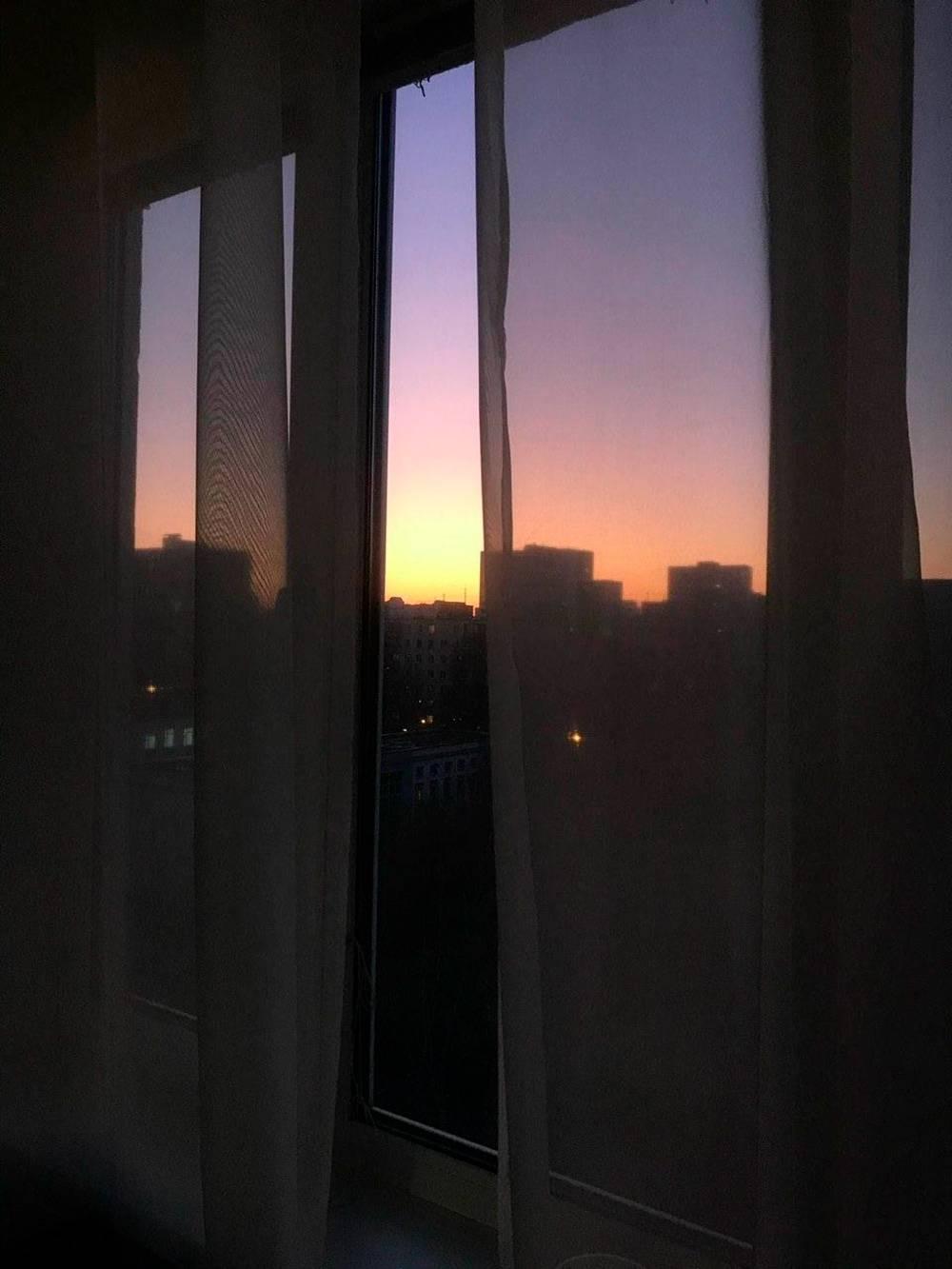 Вид из моего окна на закате