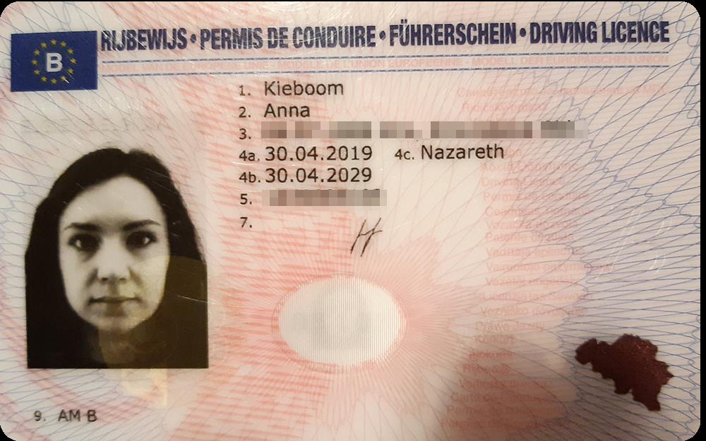 Так выглядят мои бельгийские водительские права