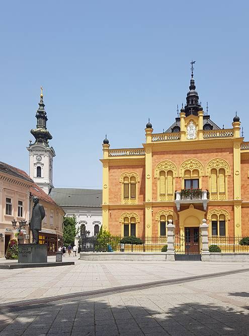 Напротив дворца Бачской епархии стоит памятник поэту Йовану Йовановичу по прозвищу Змай, в честь которого назвали улицу
