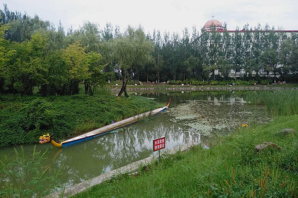 Рядом с общежитием есть озеро и парк, где можно гулять