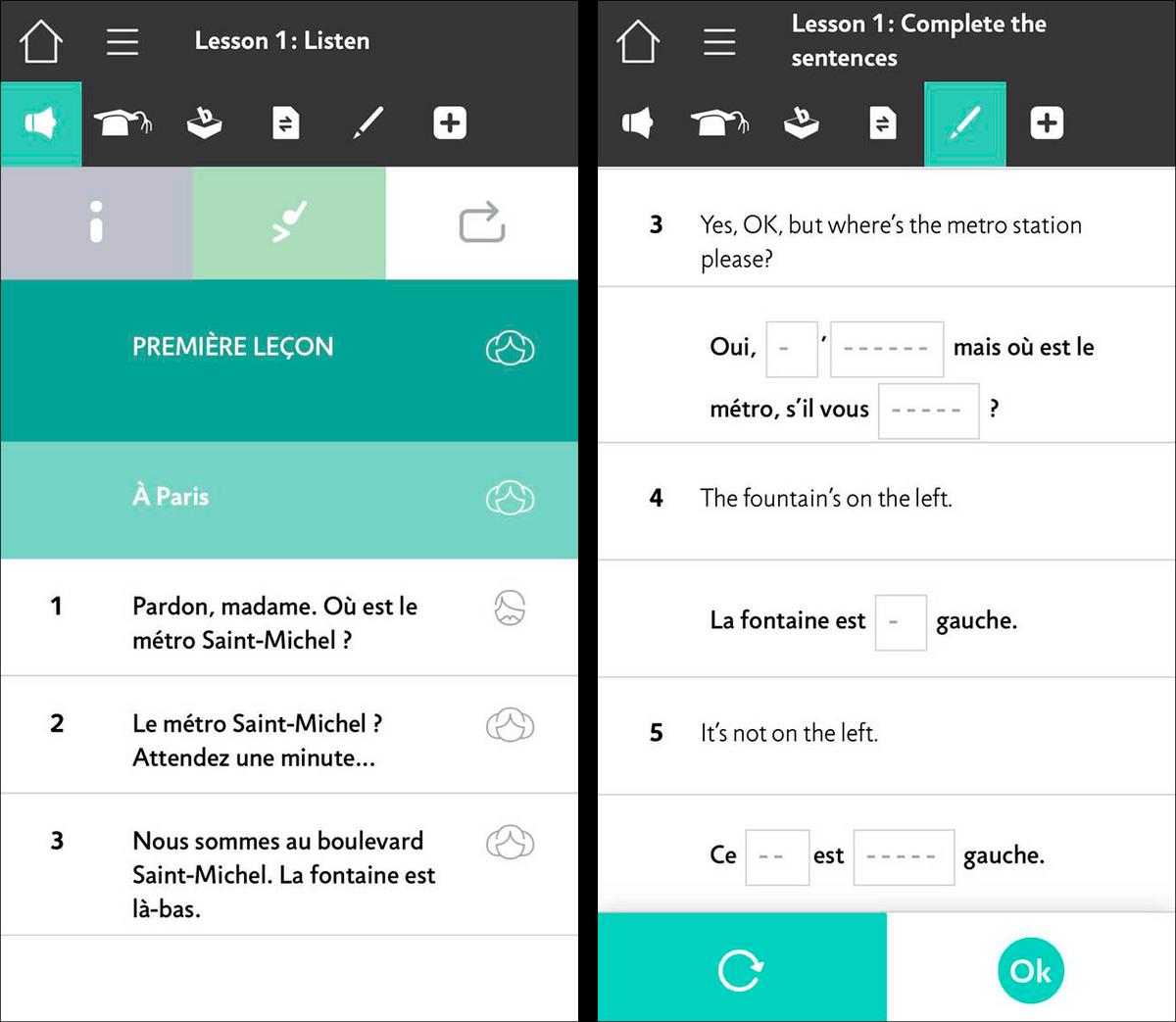 Единственный минус этого приложения в том, что объяснение грамматики и перевод французских слов даны на английском
