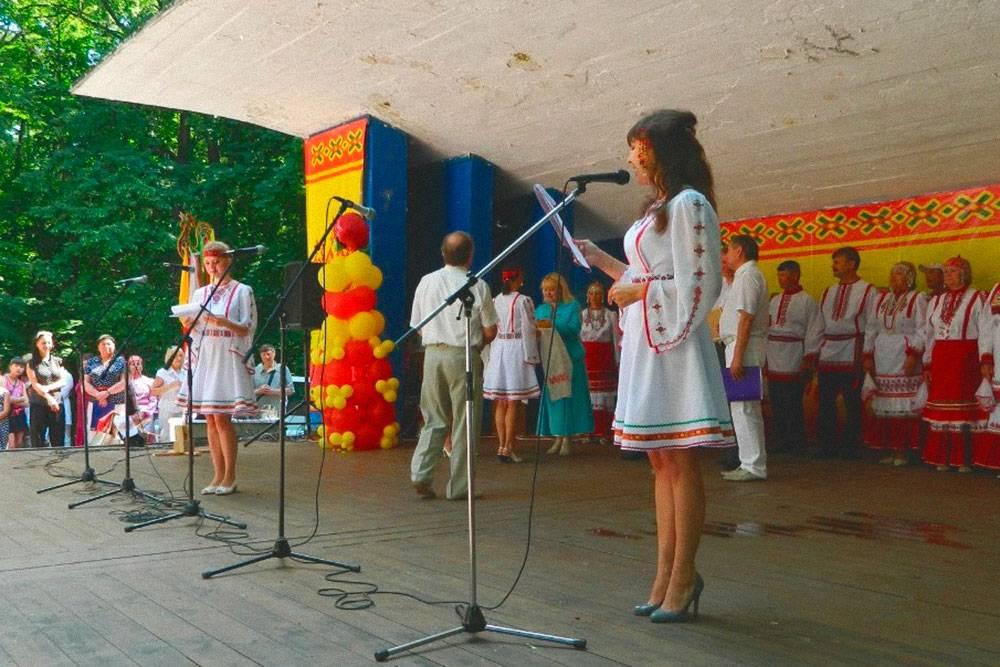 Выступления на чувашском празднике Акатуй