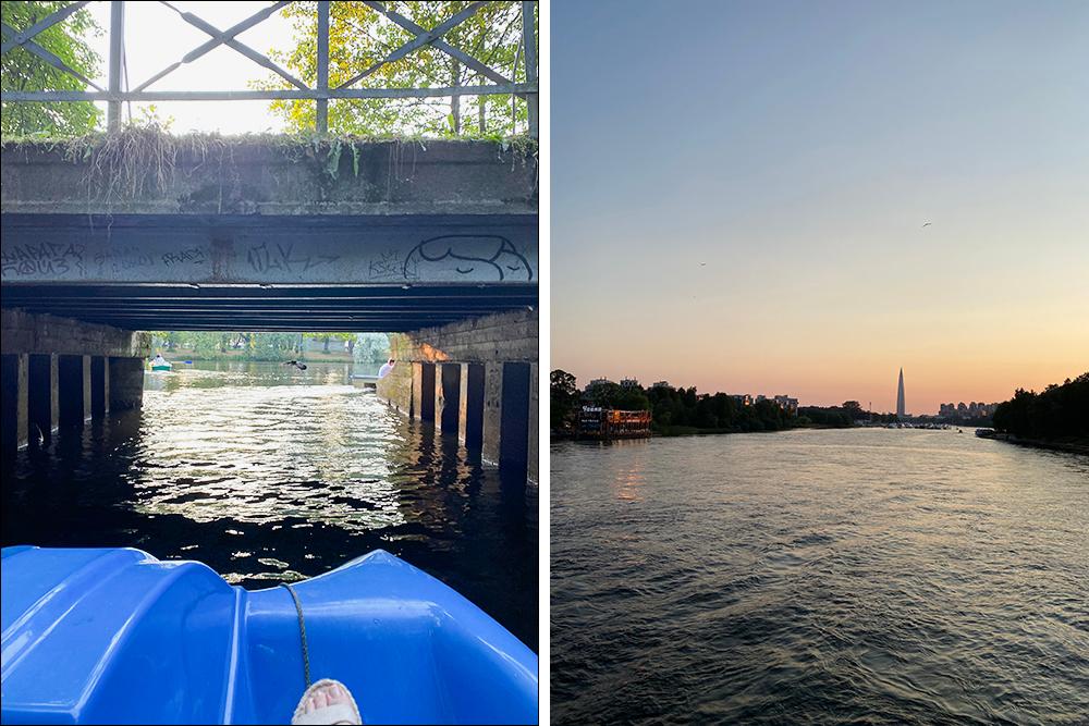 Обычно мы катаемся в парках на лодках, но тут решили попробовать что-то новое