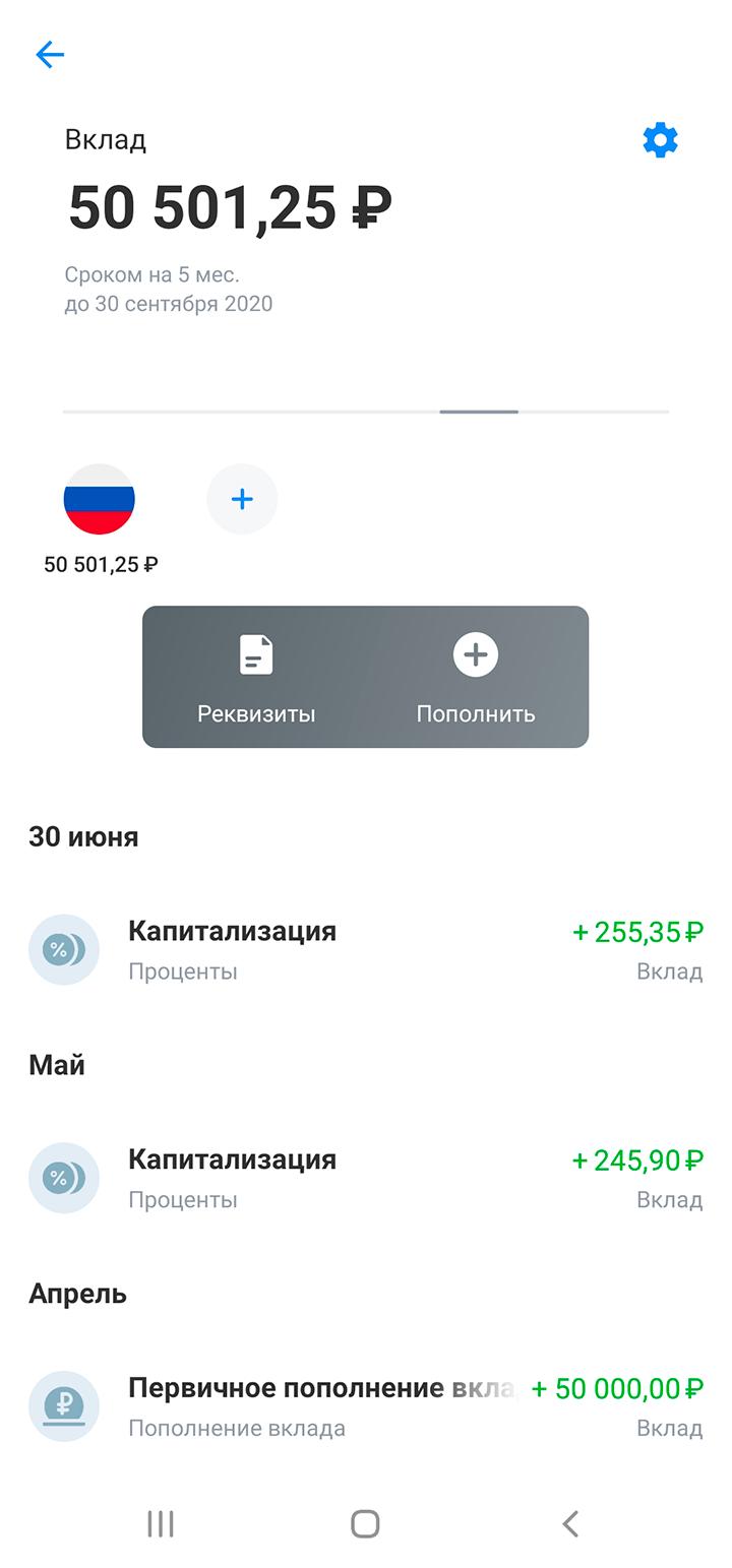 На вклад накапало 500<span class=ruble>Р</span> за два месяца
