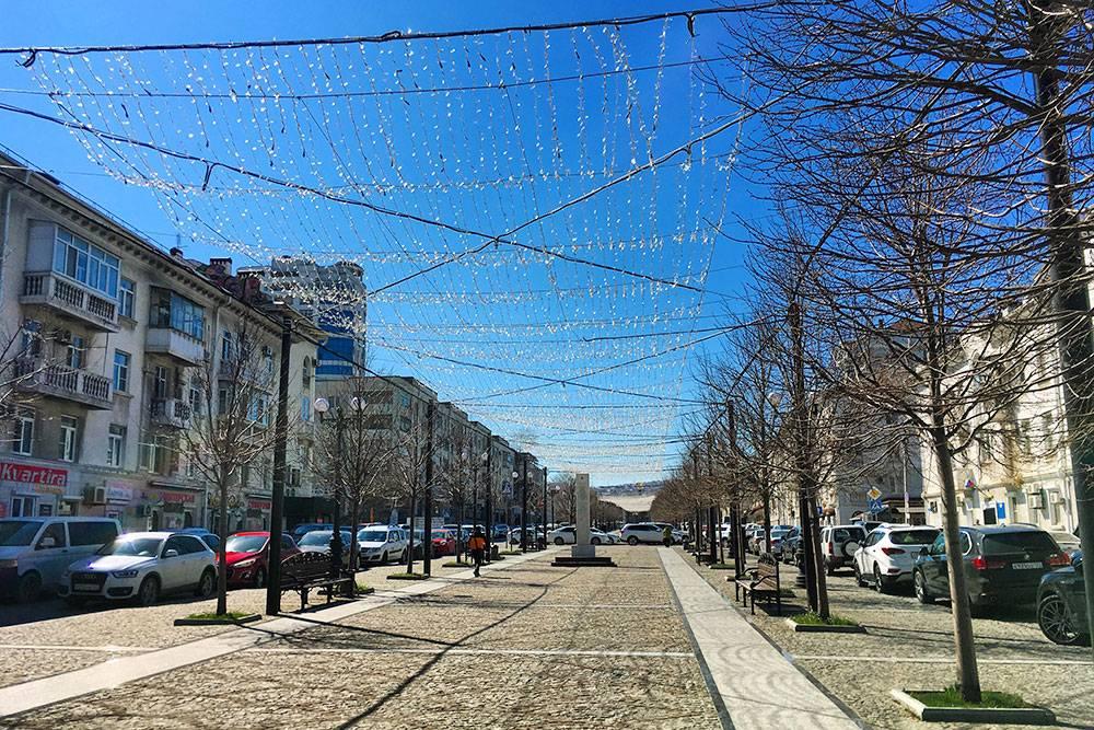 В марте улица не так живописна, как летом: деревья стоят голые