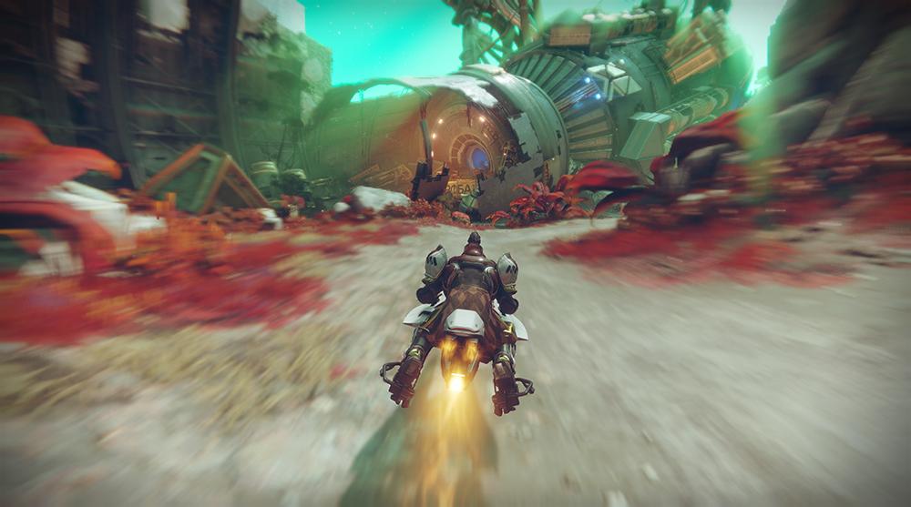 Размытие включено. Игра — Destiny2. Источник:nvidia.com