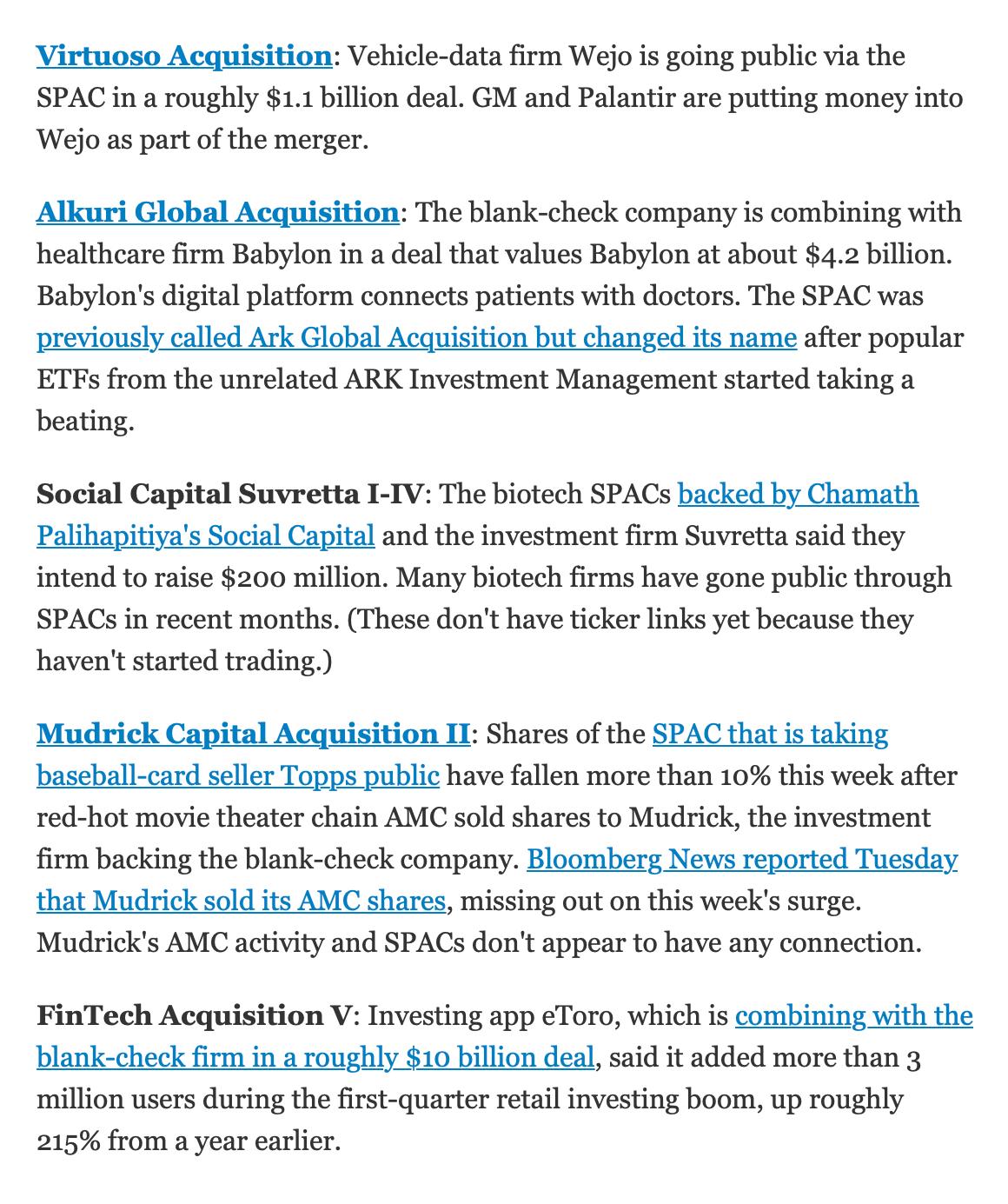 Вот как это выглядит в рассылке Wall Street Journal