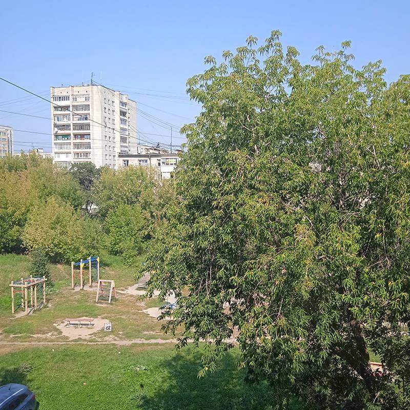 Вид из нашего окна на двор моего детства
