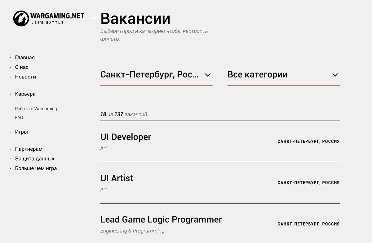 Практически у каждой игровой студии на сайте есть раздел с вакансиями: в игровой индустрии кадровый голод