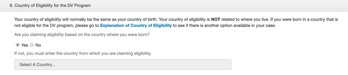 Можно выбрать родную страну или страну супруга либо родителей