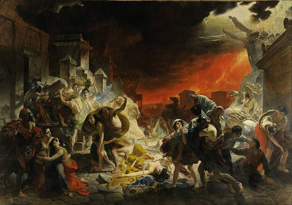 «Последний день Помпеи» Карла Брюллова — академическая картина. Увидеть ее можно в Русском музее в Петербурге