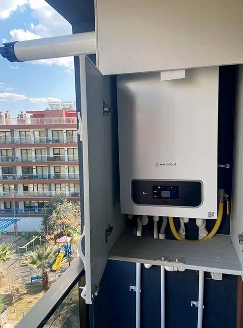 Газовый котел отвечает за отопление, горячую воду и газ