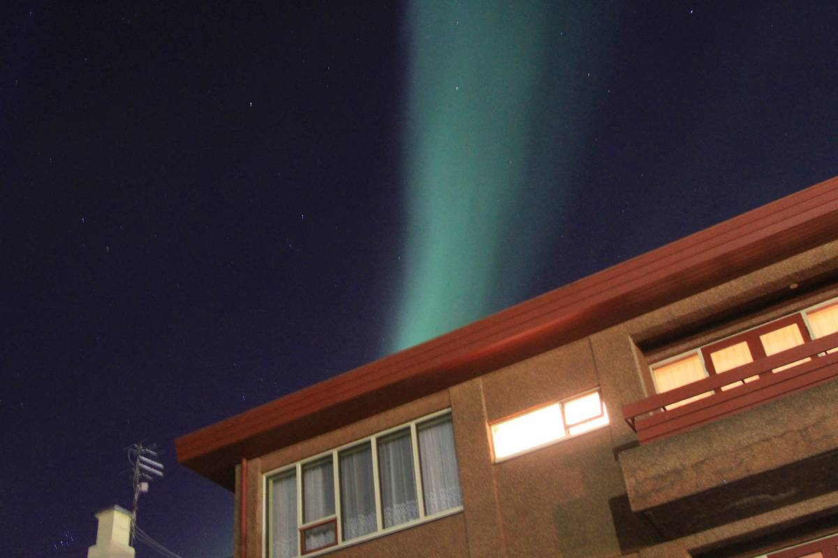 Северное сияние — обычное явление для зимы в Исландии