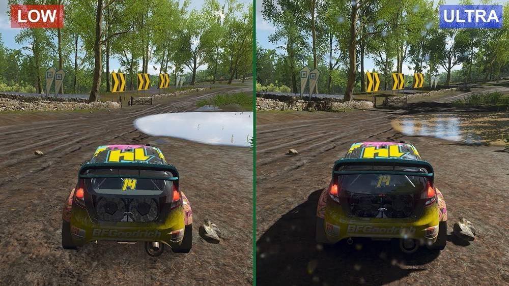 Сравнение минимальных и максимальных настроек графики в Forza Horizon4. Источник:youtube.com