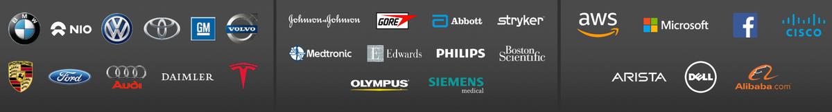 Логотипы некоторых клиентов компании. Источник: презентация компании, слайд5