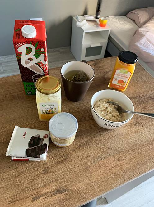 Чаще всего на завтрак я готовила овсянку с медом, ореховой пастой и фруктами