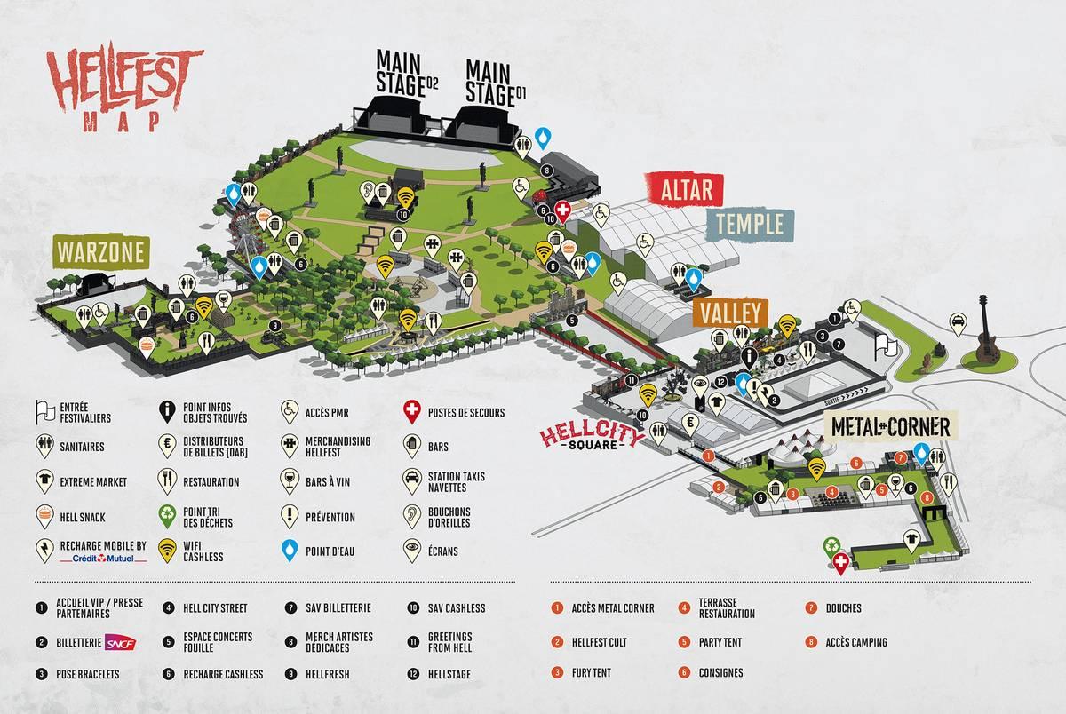 Карта территории фестиваля безпалаточного лагеря. Источник: сайт фестиваля
